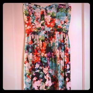 Parker printed bustier dress